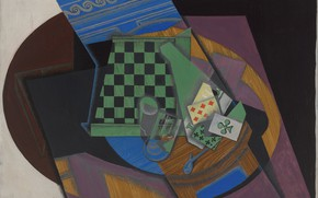 Picture 1915, Juan Gris, and playing cards, Chess Board