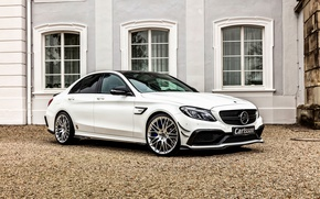Picture Mercedes-Benz, silver, side, Mercedes, Carlsson, C-Class, W205