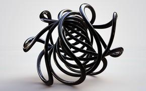 Picture background, black, twirl