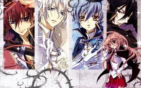 Picture look, guys, art, pink hair, aya shouoto, seiran asagi, kaede higa, kiss of rose princess, …