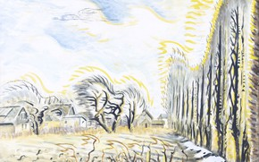 Picture Charles Ephraim Burchfield, 1947-57, The Wind Harp, February Wind and Sunlight
