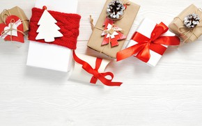 Picture decoration, New Year, Christmas, gifts, happy, Christmas, wood, New Year, Merry Christmas, Xmas, gift, decoration