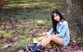 Picture nature, Asian, sitting