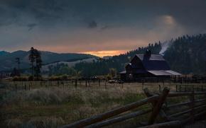 Picture night, village, farm, Far Cry 5