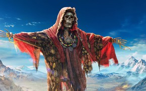 Picture Tom Clancy`s Ghost Recon, the sky, mountains, totem, Scarecrow