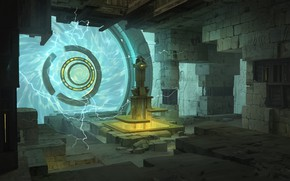Picture the portal, the room, plasma, Underground Portal