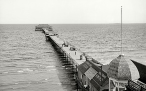 Picture sea, retro, FL, pierce, USA, 1902-the year