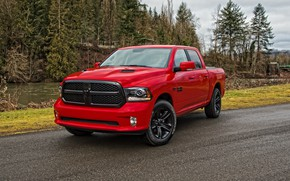 Picture Red, Dodge, Car, 1500, Sport, Ram, 2017