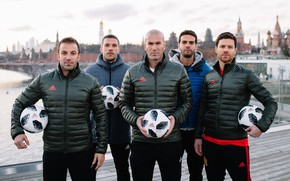 Wallpaper The ball, Football, Moscow, Russia, Adidas, 2018, Lukas Podolski, Alonso, Kaka, Alonso, Xabi Alonso, Lukas ...