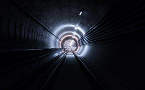 Wallpaper light, Tunnel, pipes