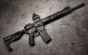 Wallpaper weapons, assault rifle, Axelson Night Axe