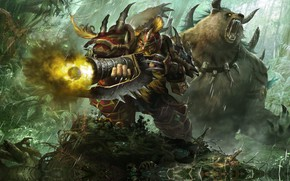 Picture the game, bear, art, fantasy, Moky lin, 2D ConceptArt, Stormthrone, ле5с