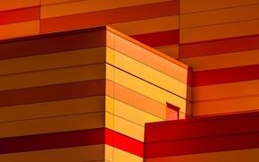 Picture color, line, the city, heat, the building