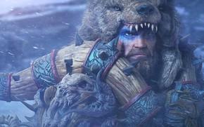 Wallpaper look, bear, warrior, male, barbarian, raw