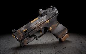 Wallpaper style, gun, background, Glock