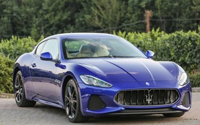 Picture auto, blue, Maserati, sport, GranTurismo, Luxury, metallic