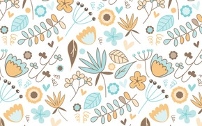 Wallpaper background, texture, pattern, vector, flowers