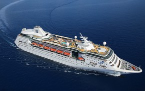 Picture The ocean, Sea, White, Liner, Board, Top, The ship, Passenger, Passenger liner, Circulation, Royal Caribbean, …