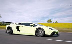 Picture supercar, Lamborghini Aventador, Forza Horizon 3, Lyberty walk tuning