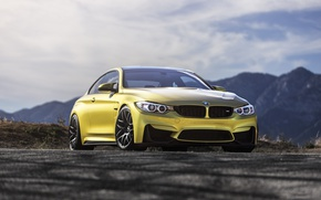 Picture BMW, Austin, Yellow, F82, M4