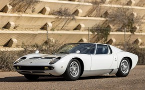 Picture Auto, Lamborghini, White, Machine, 1971, Car, Supercar, Lamborghini Miura, P400, Lamborghini Miura P400, Lamborghini Miura ...