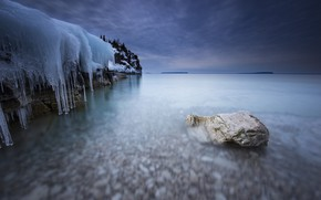 Picture sea, coast, ice