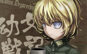 Picture girl, soldier, military, war, Germany, anime, cross, blonde, asian, manga, oriental, asiatic, powerful, strong, uniform, …