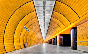 Picture metro, Germany, Munich, the tunnel