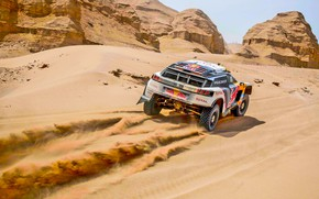 Picture Sand, Mountains, Sport, Speed, Stones, Race, Hills, Peugeot, Lights, Red Bull, Rally, Rally, Sport, DKR, …