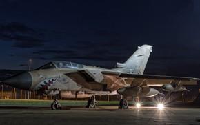 Picture light, night, Nibbler, the plane, Panavia Tornado