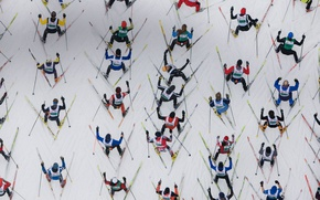 Wallpaper skiing, Engadine, Switzerland, marathon, race
