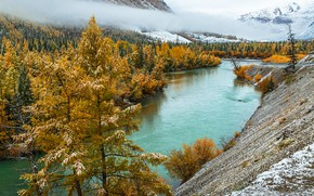 Picture autumn, river, Altay, Sensing