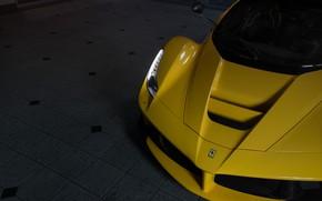 Picture Ferrari, Yellow, Face, LaFerrari