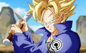 Picture DBS, sword, game, anime, ken, blade, asian, manga, oriental, asiatic, Dragon Ball, Saiyan, Trunks, Super …