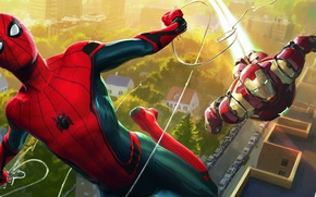 Picture cinema, spider, armor, Iron Man, boy, Marvel, movie, Spider-man, hero, film, mask, suit, Tony Stark, ...