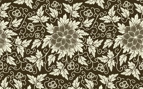 Picture flowers, pattern, texture, background