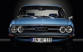 Picture Audi, Auto, Blue, Retro, Machine, Grille, The front, 100, Audi 100, Audi 100 coupe S …