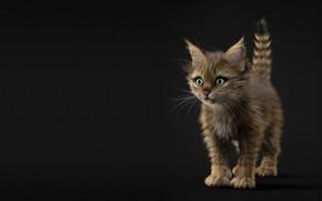 Wallpaper children's, art, kitty, Alina Makarenko, baby, kitten