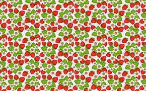 Picture summer, mood, vector, strawberries, strawberry, art, berry