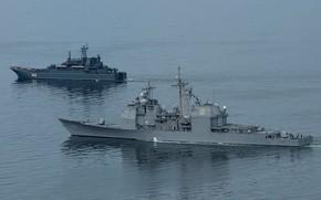 Picture Kaliningrad, destroyer, large landing ship, uss normandi