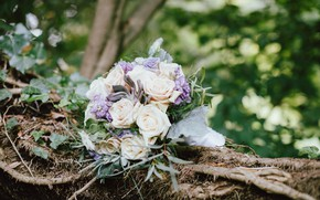 Picture flowers, roses, bouquet, wedding