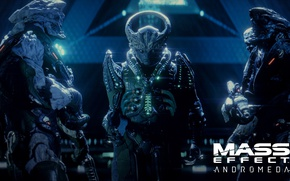 Picture gun, game, weapon, alien, Mass Effect, suit, Mass Effect Andromeda