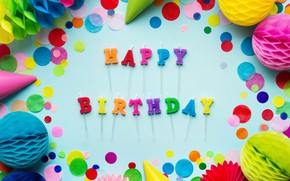 Picture candles, colorful, rainbow, Happy Birthday, colours, celebration, decoration, candle, Birthday