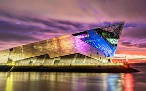 Picture lights, England, aquarium, architecture, Kingston upon hull