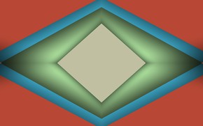 Picture shadows, geometry, rhombus
