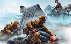 Wallpaper prisoners, the great Patriotic war, the Nazis, crossroads, scouts, language