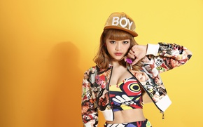 Wallpaper look, girl, style, background, cap, East