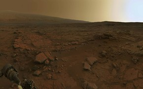 Wallpaper the Rover, dawn on Mars, Mars