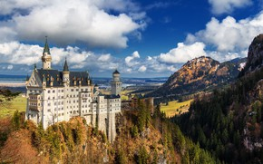 Picture landscape, castle, Germany, Neuschwanstein Castle, Neuschwanstein Castle