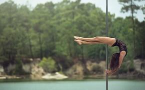 Picture girl, dance, grace, pole, Eva, shestova acrobatics, pole dancing, Pole Sport